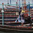 Thailand, Koh Phangan, local wooden fishing boats — Stock Photo #9057388
