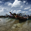 Thailand, Koh Phangan, local wooden fishing boats — Stock Photo #9057749