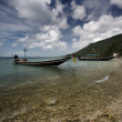 Thailand, Koh Phangan, local wooden fishing boats — Stock Photo #9057872