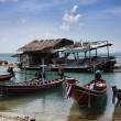 Thailand, Koh Phangan, local wooden fishing boats — Stock Photo
