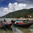 Thailand, Koh Phangan, local wooden fishing boats — Stock Photo #9058371
