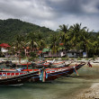 Thailand, Koh Phangan, local wooden fishing boats — Stock Photo #9074642