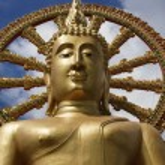 Thailand, Koh Samui (Samui Island), Phra Yai Buddhist Temple (Wat Phra Yai) — Stock Photo #9125373