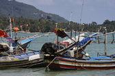 Thailand, Koh Samui (Samui Island), view of local fishing boats a — Stock Photo