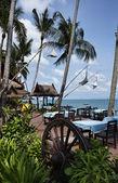 Tajlandia, koh samui (wyspie samui), restauracja na plaży — Zdjęcie stockowe