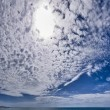 Italy, Sicily, Donnalucata (Ragusa province), clouds in the sky and the Mediterranean sea — Stock Photo