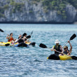 Thailand, MU KOH ANGTHONG National Marine Park, tourists canoeing - Stock Photo