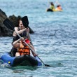 Stock Photo: Thailand, MU KOH ANGTHONG National Marine Park, tourists canoeing