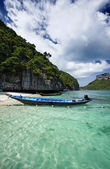 Thailand, MU KOH ANGTHONG National Marine Park, local fishing boats — Stock Photo