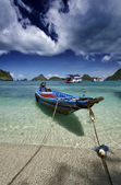Tajlandia, koh mu angthong national park morski, łodzi rybackich — Zdjęcie stockowe