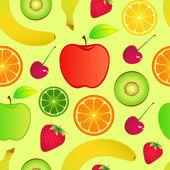 Fundo de frutas sem emenda — Vetor de Stock