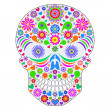 Stock Vector: Abstract skull isolated on white background.
