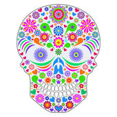 Abstract skull isolated on white background. — Stock Vector