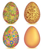 Colorful easter egg isolated on white background — Stock Vector