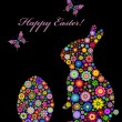 Colorful easter card — Stockvectorbeeld