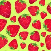 Aardbeien achtergrond — Stockvector