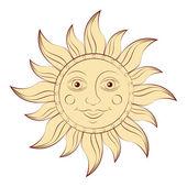 Sonne auf weißem hintergrund — Stockvektor