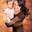 Picture of happy mother with baby — Stock Photo