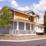 Suburban huis — Stockfoto