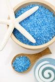 Blauwe spa set — Stockfoto