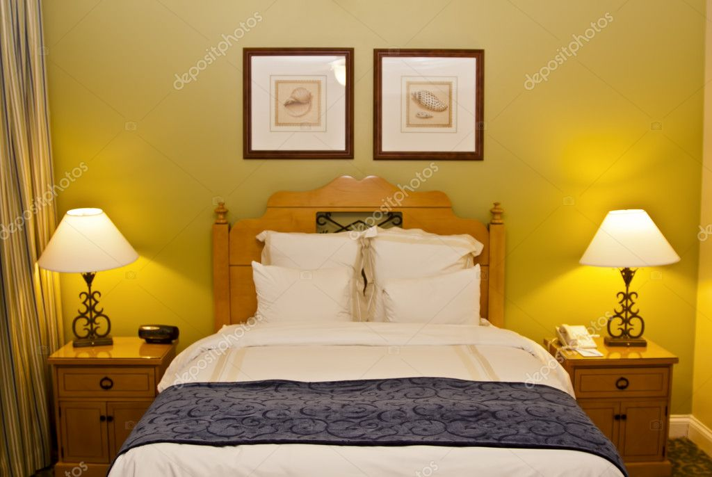 Interior of modern bedroom  Stock Photo #9876851