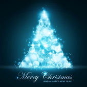 Blue Christmas card — Vecteur