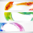Abstract colorful vecter header set — Stock Vector #9217367
