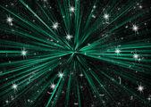 Rita en rak linje blå, grön, svart bakgrund — Stockfoto