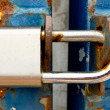 Old silver lock — Stock Photo