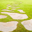 Tract stones on the grass — Stock Photo