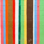 de färgglada väggarna — Stockfoto