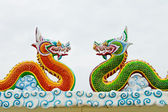 Green Dragon and Red Dragon — Stock Photo