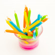 Birthday candles with a variety of colors — Stock Photo #8254598