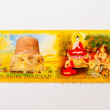 Stock Photo: Stamp on importance of religion in Thailand