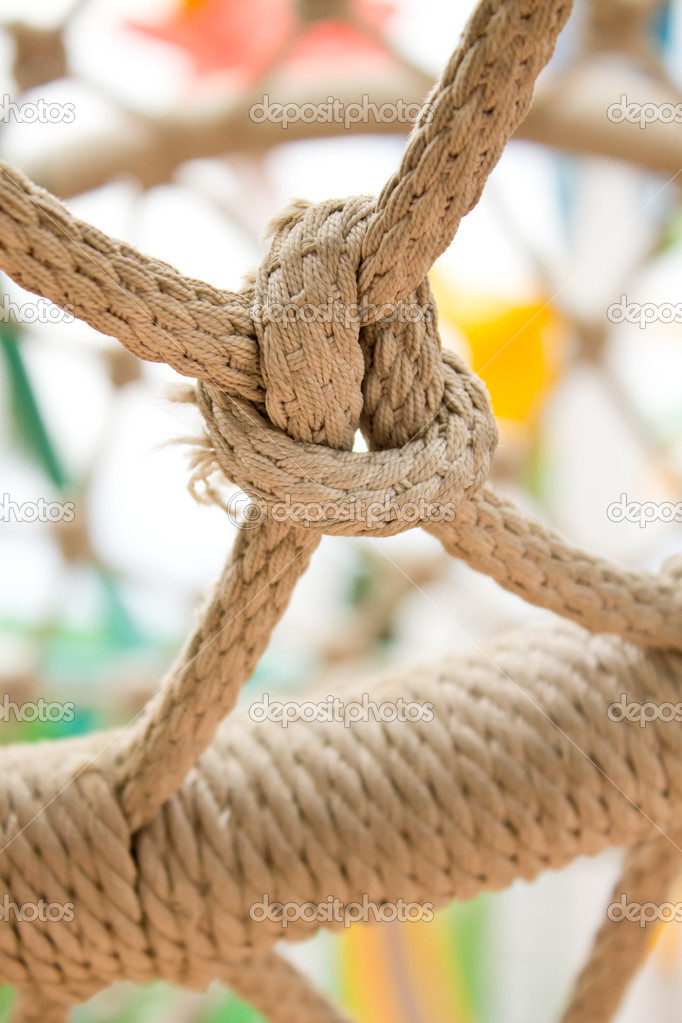 Gray ropes tied together  Stock Photo #8257303