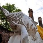 Ancient image buddha statue in Ayutthaya Thailand — Stock Photo #8266178