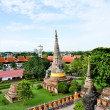 Ancient image buddha statue in Ayutthaya Thailand — Stock Photo