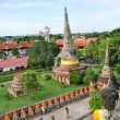 Ancient image buddha statue in Ayutthaya Thailand — Photo