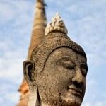 Ancient image buddha statue in Ayutthaya Thailand — Stock Photo #8273496
