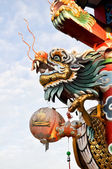 Golden Dragon Shrine — Stock Photo