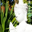 Stock Photo: White statue Buddha