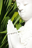 White statue Buddha — Photo