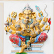 The image of Ganesha with bright colors, the healing, Chachoengs — Stock Photo