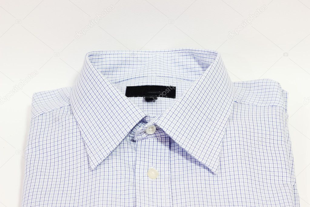 Men's shirt is blue — Stock Photo #8810240