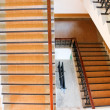 The wooden stairs up and down — Stock Photo