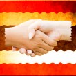 The hands of her background, the flag of Thailand — Stock Photo #9121980