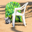 Photo: Chairs on beach in tropics