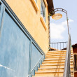 Cement stairs sky background — Stock Photo