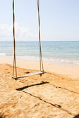 Swing by the sea in the tropics — Stock Photo