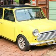 Mini Cooper in yellow — Stock Photo